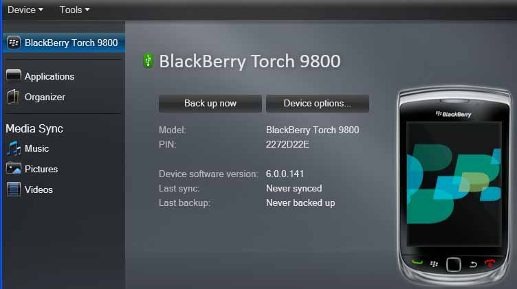 Blackberry-Desktop-Manager-7-screenshot