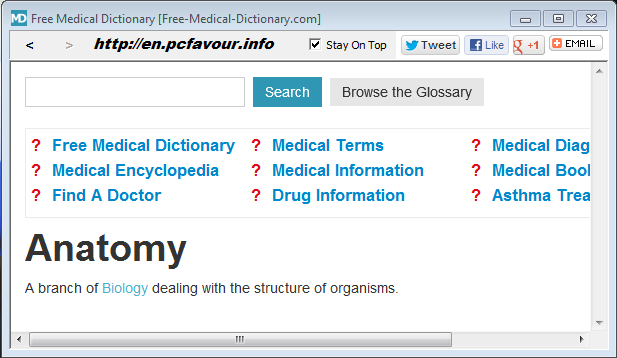Free Medical Dictionary v1.1