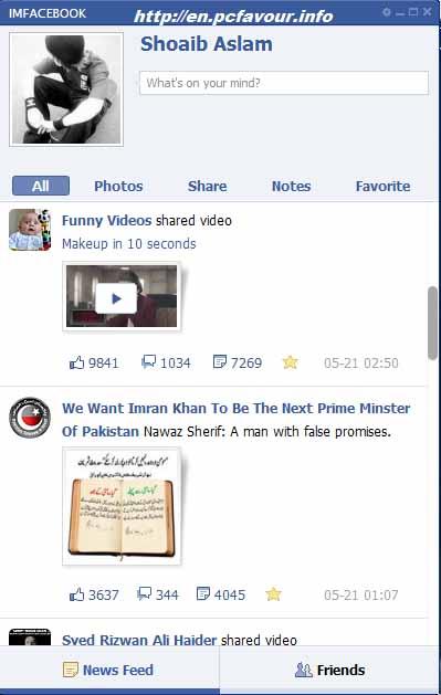 IMFacebook-screenshot