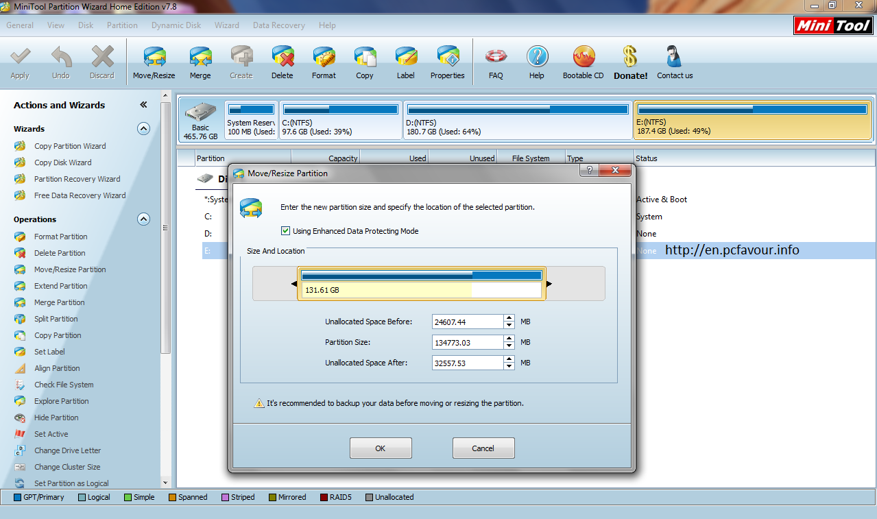 MiniTool Partition Wizard HE 7.8