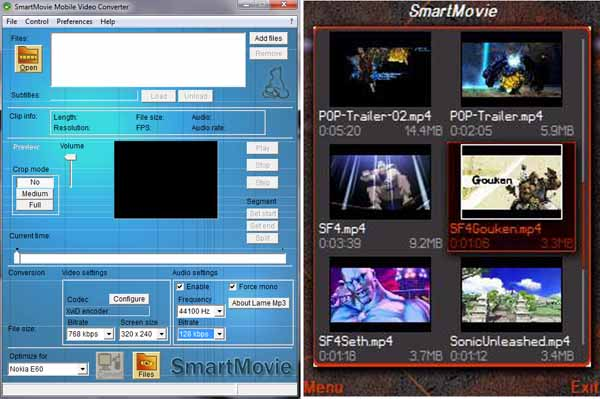 smartmovie converter and player for symbian