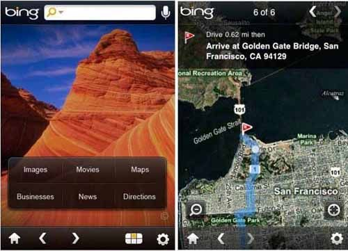 Bing-search-iphone