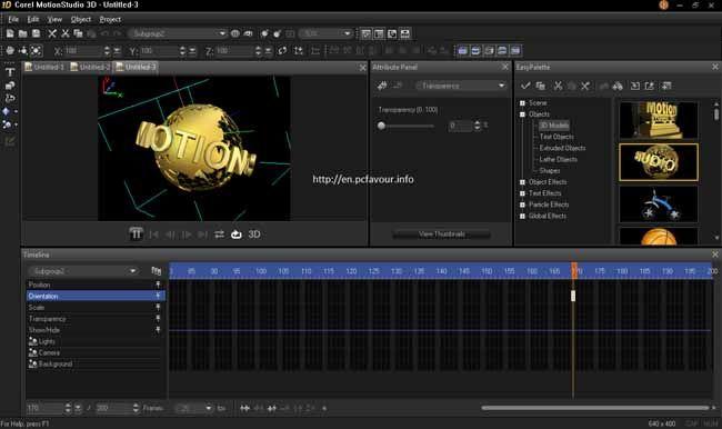 Corel-MotionStudio-3D-screenshot