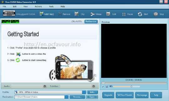 Free-CUDA-Video-Converter-screenshot