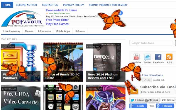 Butterfly-on-Desktop-screenshot