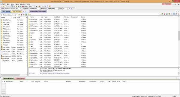 CuteFTP-screenshot