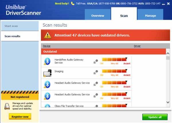 Uniblue-DriverScanner-screenshot