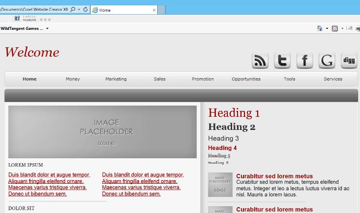 Corel-Website-Creator-screenshot