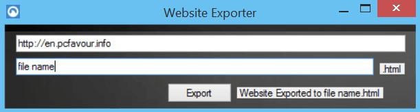 Website-Exporter-screenshot
