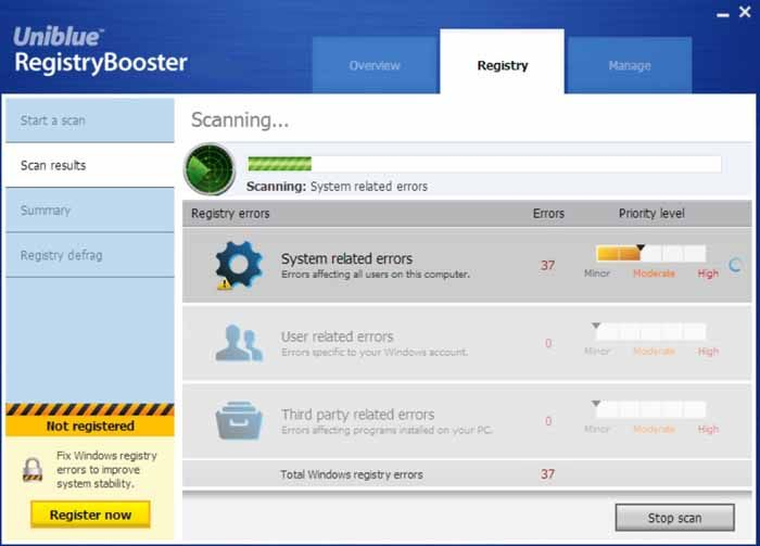 uniblue-registryBooster-screenshot