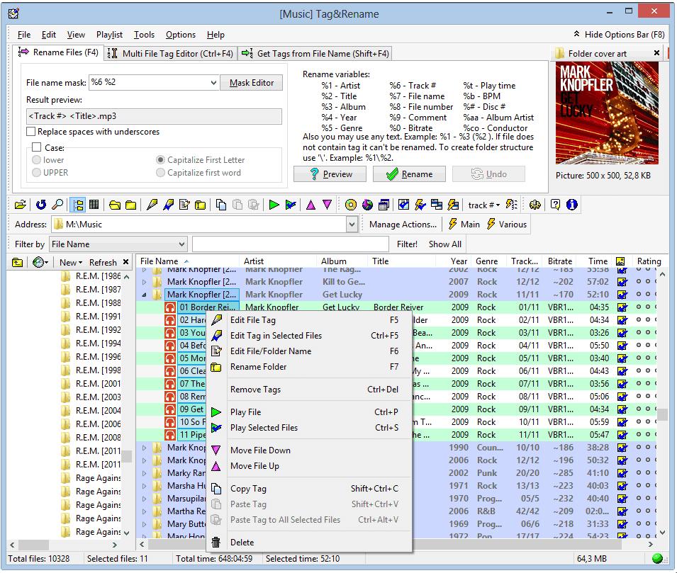 TagRename-screenshot