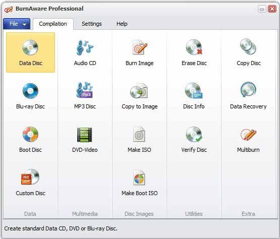 BurnAware screenshot