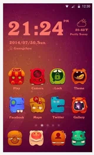 Little-Monster-Theme-screenshot