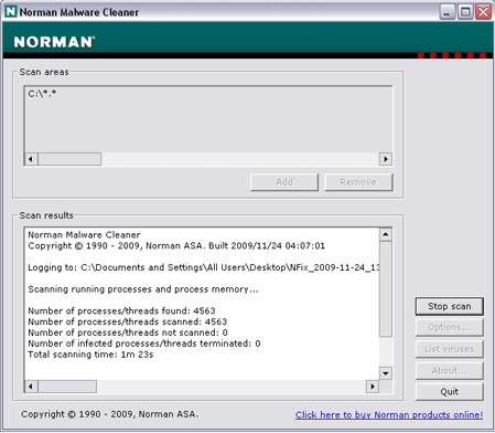 Norman-Malware-Cleaner-screenshot-download