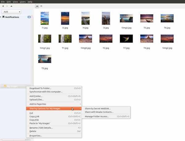 Wuala-screenshot-download