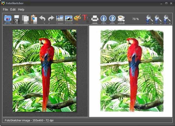 FotoSketcher-screenshot