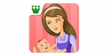 supermom-baby-care-game-logo