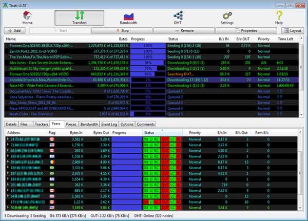 Tixati-Screenshot