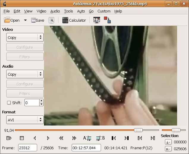 AviDemux-screenshot