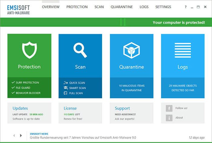 Emsisoft-Anti-Malware-screenshot
