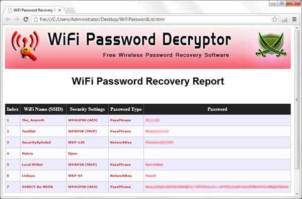 WiFi-Password-Decryptor-screenshot