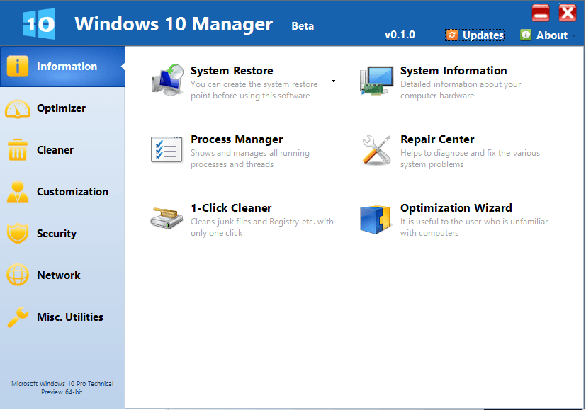 Windows-10-Manager-Screenshot