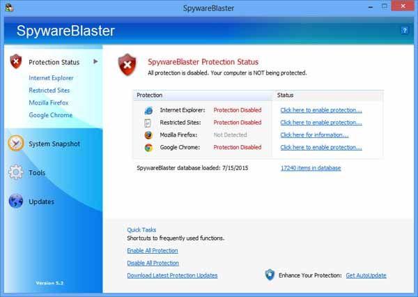 SpywareBlaster-screenshot