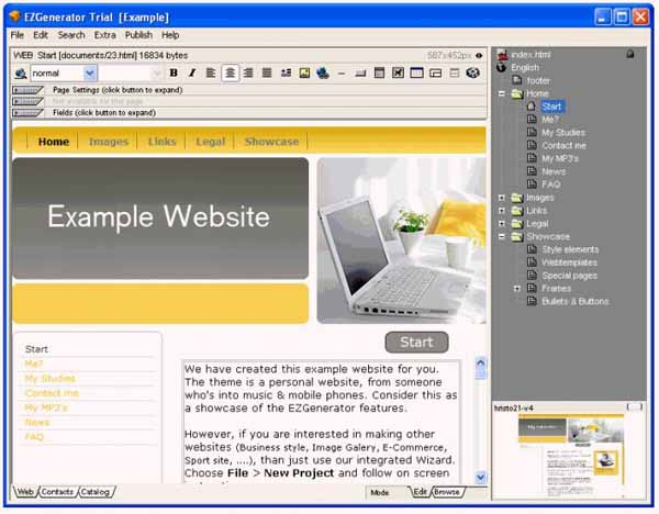 EZGenerator-Website-Builder-Screenshot
