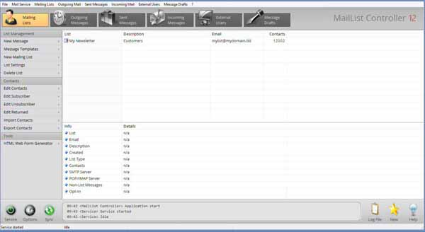 MailList-Controller-Screenshot