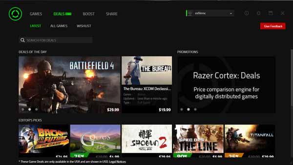 RazerCortex-screenshot