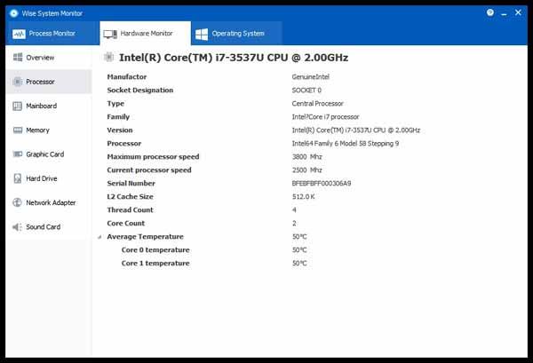 Wise-System-Monitor-Screenshot