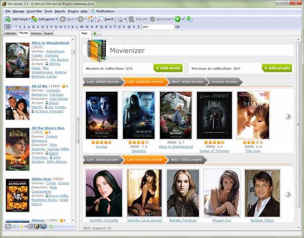 Movienizer-Screenshot