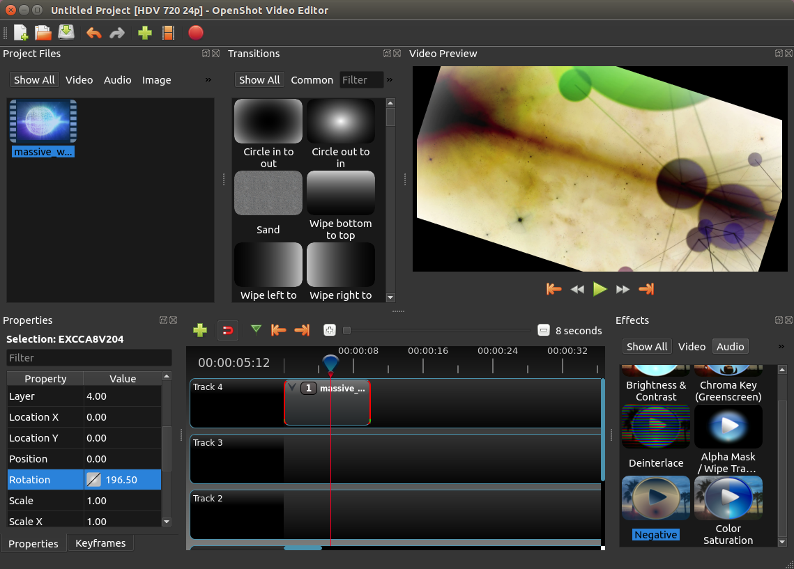 oepnshot-video-editor-screenshot