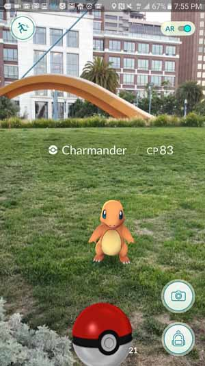 pokemon go android game screenshot