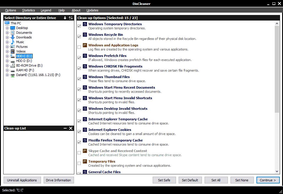 DisCleaner-screenshot
