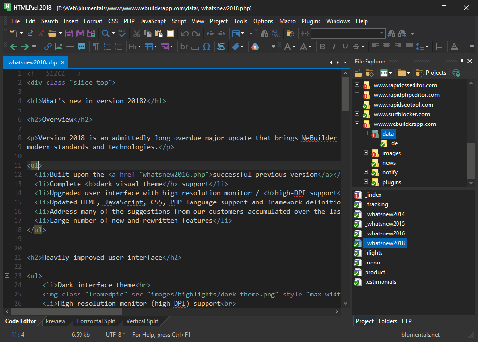 HTMLPad-Darktheme-Screenshot2